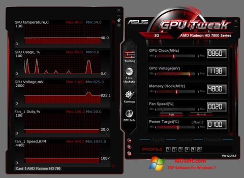 スクリーンショット ASUS GPU Tweak Windows 7版