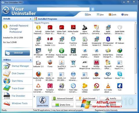スクリーンショット Your Uninstaller Windows 7版