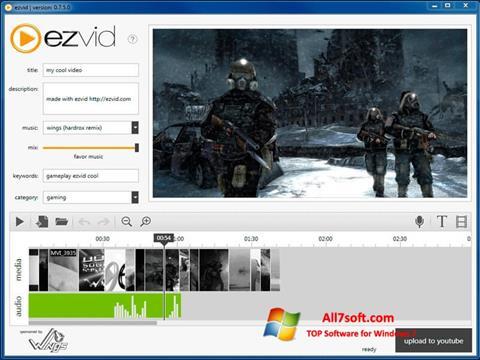 スクリーンショット Ezvid Windows 7版