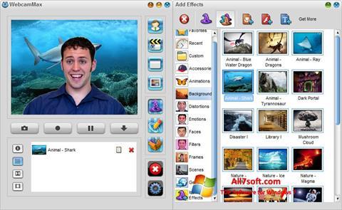 スクリーンショット WebcamMax Windows 7版