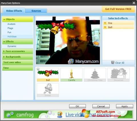 スクリーンショット ManyCam Windows 7版