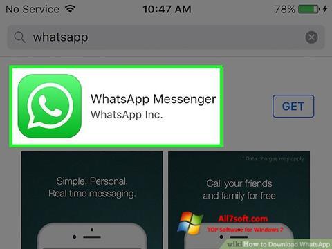 スクリーンショット WhatsApp Windows 7版