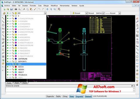 スクリーンショット DraftSight Windows 7版