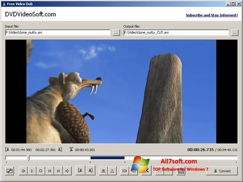 スクリーンショット Free Video Dub Windows 7版