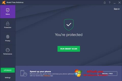 スクリーンショット Avast Free Antivirus Windows 7版