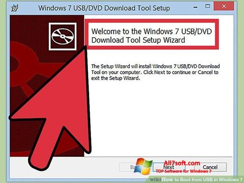 スクリーンショット Windows 7 USB DVD Download Tool Windows 7版