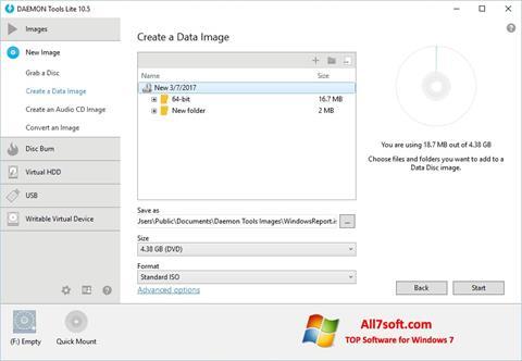 スクリーンショット DAEMON Tools Lite Windows 7版
