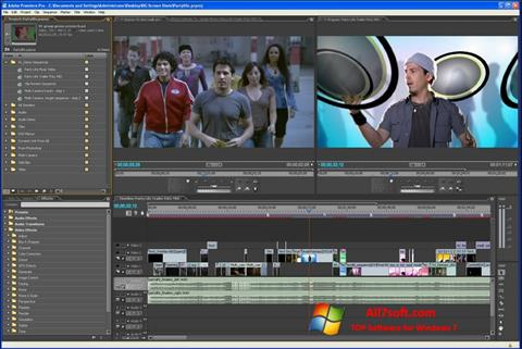 スクリーンショット Adobe Premiere Pro Windows 7版