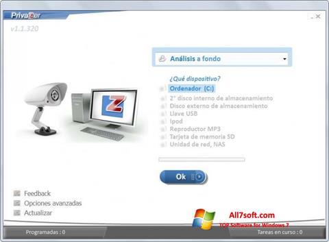 スクリーンショット PrivaZer Windows 7版