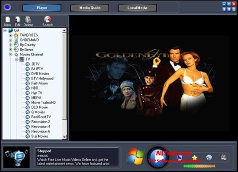 スクリーンショット Online TV Live Windows 7版