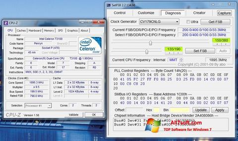 スクリーンショット SetFSB Windows 7版