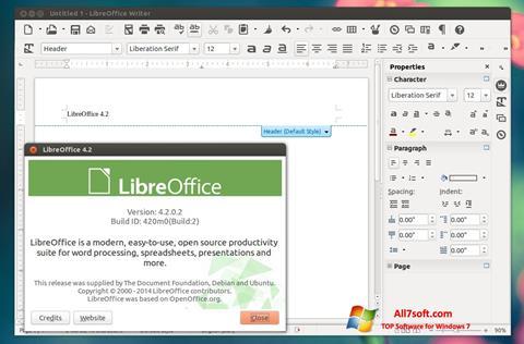 スクリーンショット LibreOffice Windows 7版