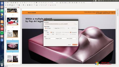 スクリーンショット Master PDF Editor Windows 7版