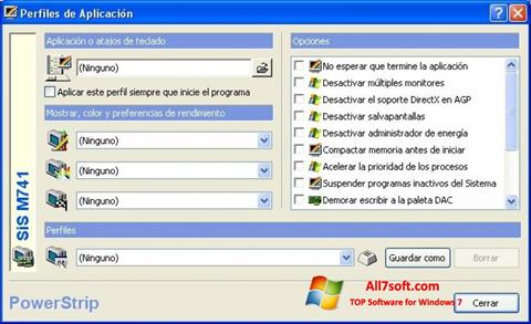 スクリーンショット PowerStrip Windows 7版