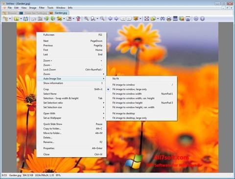 スクリーンショット XnView Windows 7版