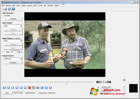 スクリーンショット Avidemux Windows 7版