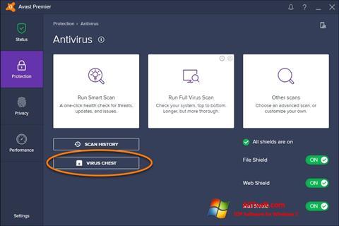 スクリーンショット Avast Windows 7版