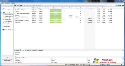 スクリーンショット uTorrent Windows 7版