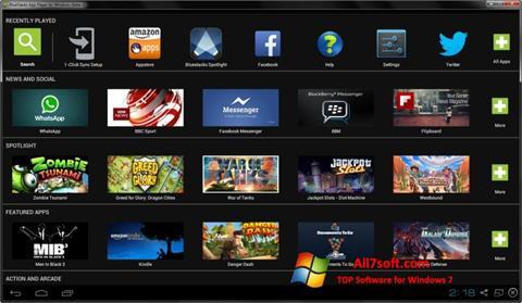 スクリーンショット BlueStacks Windows 7版