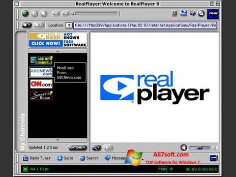 スクリーンショット RealPlayer Windows 7版