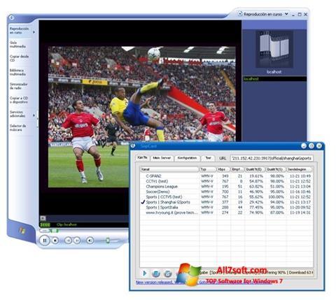 スクリーンショット SopCast Windows 7版
