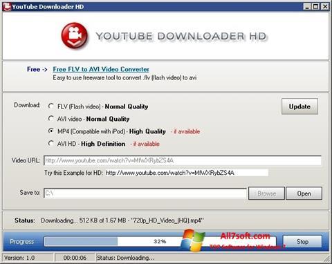 スクリーンショット Youtube Downloader HD Windows 7版