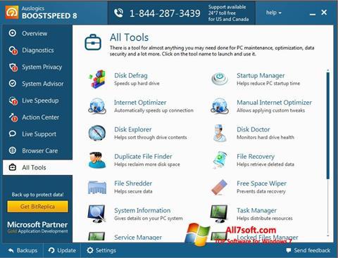 スクリーンショット Auslogics BoostSpeed Windows 7版