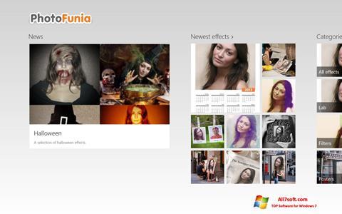 スクリーンショット PhotoFunia Windows 7版