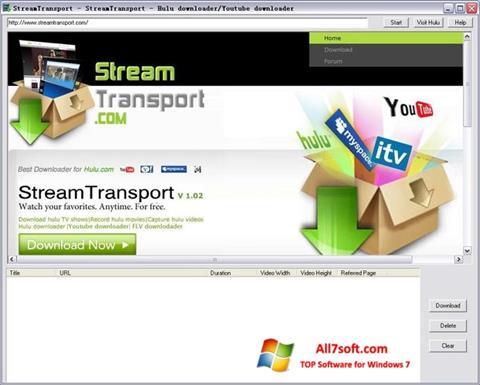 スクリーンショット StreamTransport Windows 7版