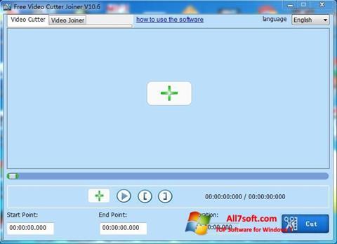 スクリーンショット Free Video Cutter Windows 7版
